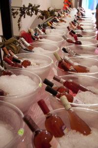 Italia in rosa bottiglie in degustazione