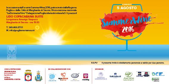Invito alla SummerWine 2016 in Puglia
