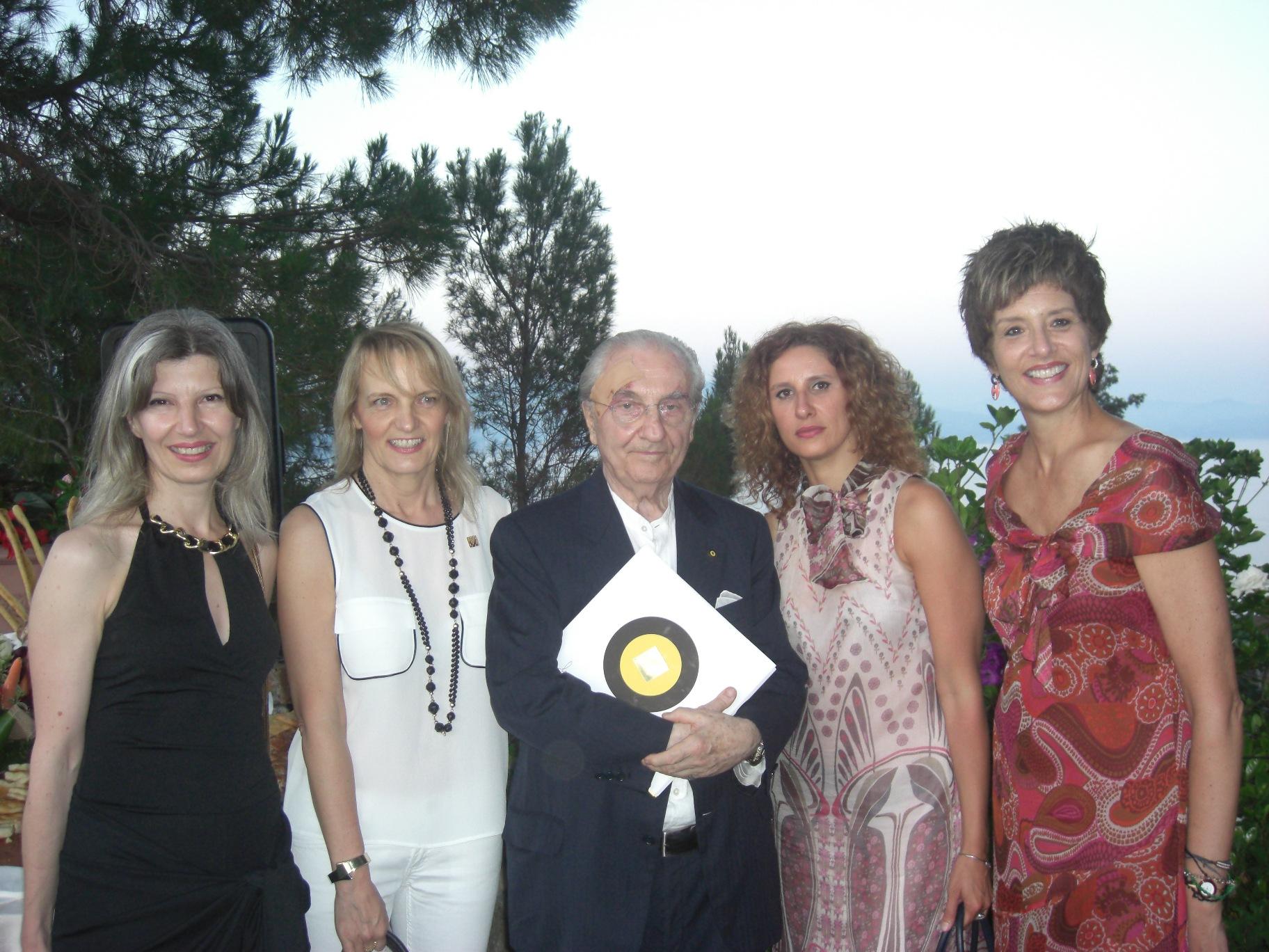 Gualtiero Marchesi a Portofino ospite della DDV Paola Bisso
