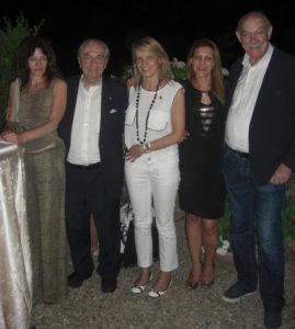 Beba Marsano, Gualtiero Marchesi, Cinzia Tosetti, Paola e Gianni Bisso