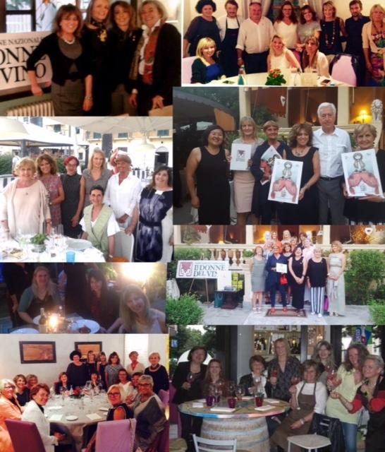 Le immagini delle cene di incontro tra le Donne del Vino di Liguria e Piemonte