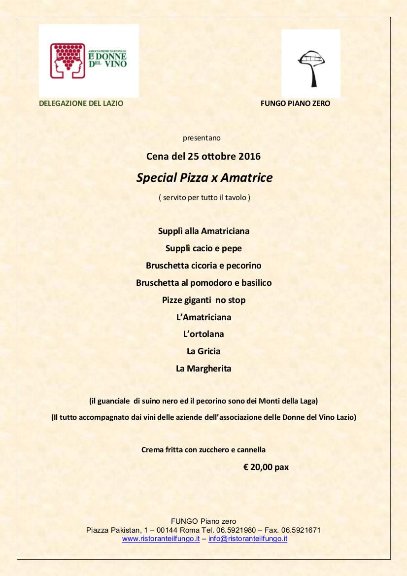 La locandina di Special Pizza per Amatrice in Lazio