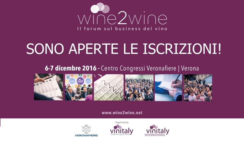 Wine2Wine 2016 a Verona, le iscrizioni sono aperte