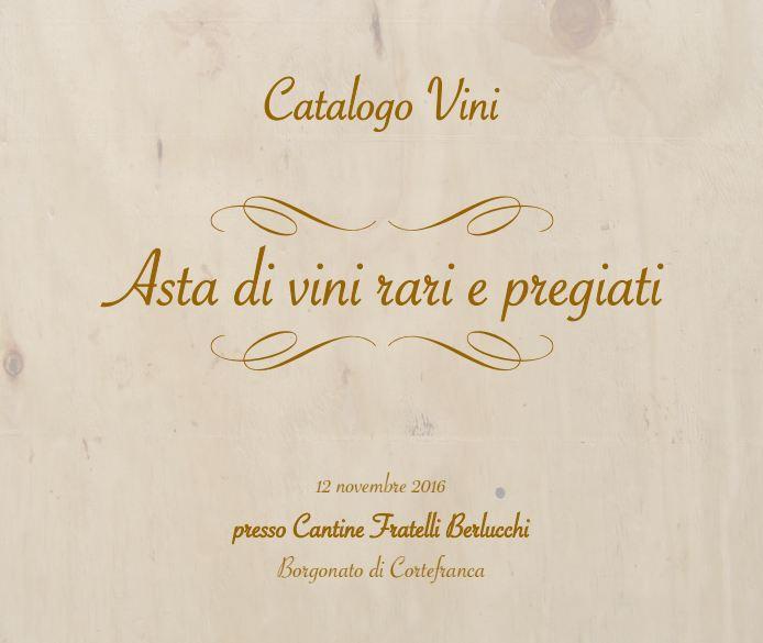 Asta di beneficenza: online il catalogo dei vini rari