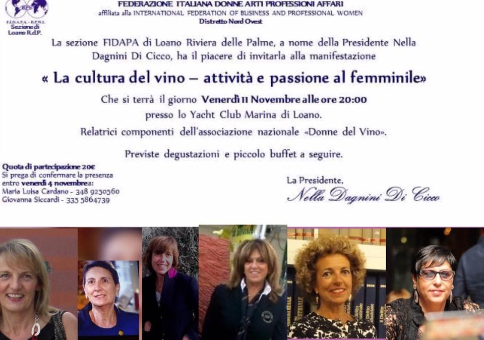 Fidapa e Donne del Vino della Liguria si incontrano
