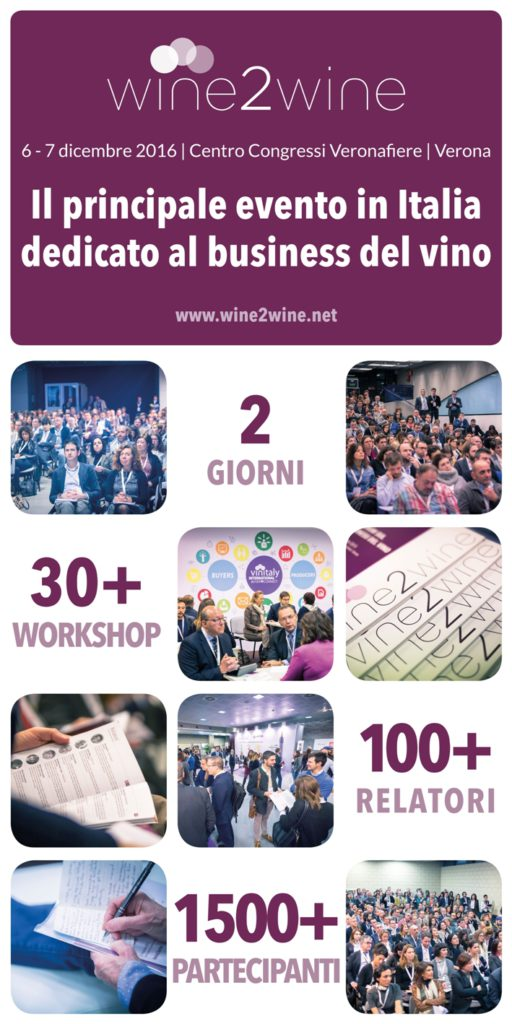 wine2wine è l'evento internazionale sul business del vino