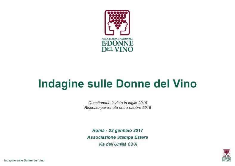 Indagine svela le donne del vino