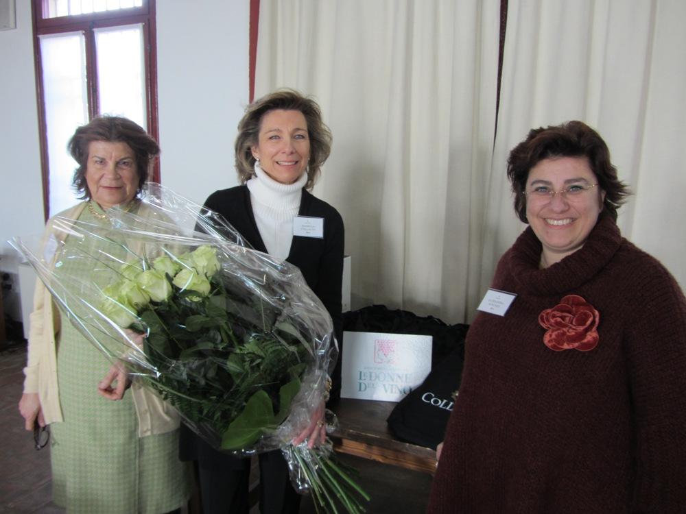 Le Donne del Vino Cristiana Cirielli, Isabella Collalto De Croy e Alessandra Boscaini