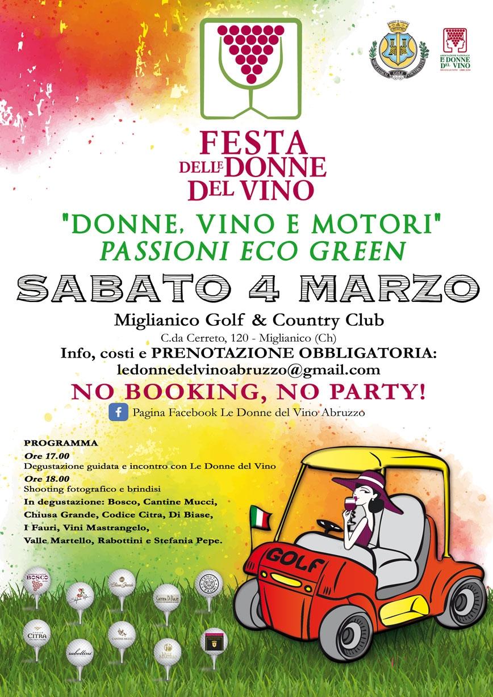 Locandina della Festa delle Donne del Vino in Abruzzo