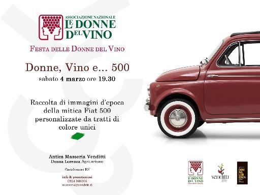 Locandina dell'evento Donne, vino e 500