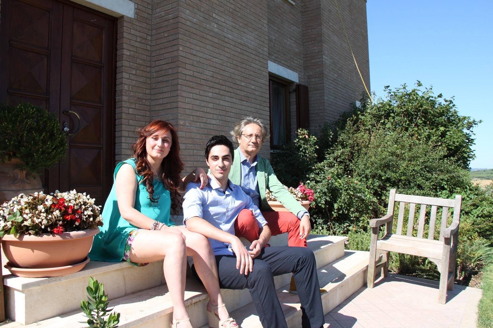 Ilaria D'Eusanio e famiglia dell'Azienda Chiusa Grande