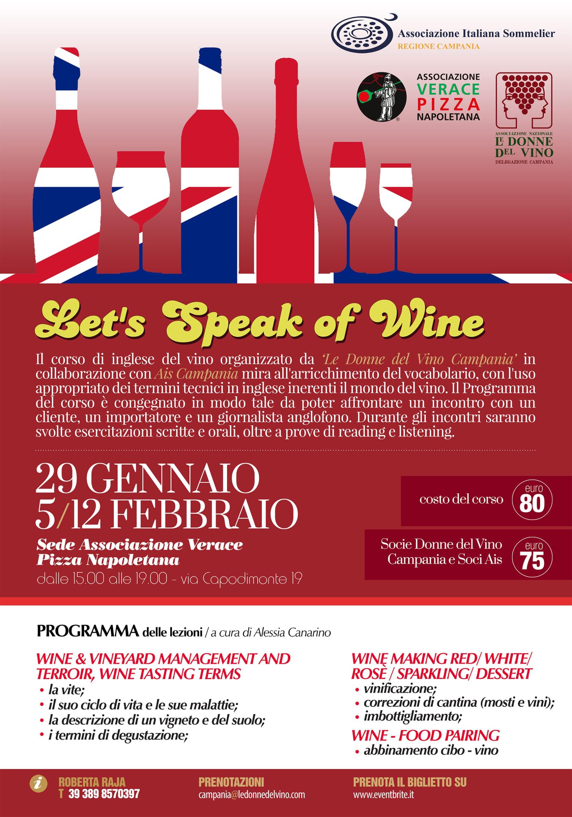 Inglese del vino: un corso in Campania