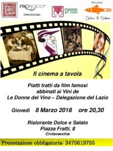 """""""IL CINEMA A TAVOLA""""   Civitavecchia"""