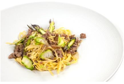Tagliolini con fegatini e asparagi, ricetta dal Piemonte