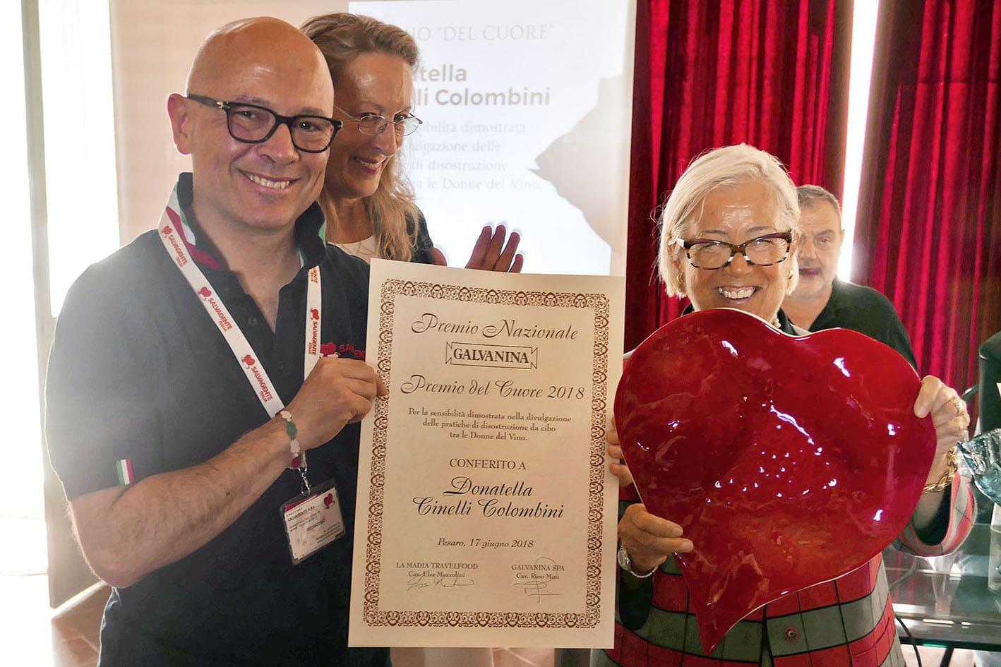 Galvanina: premio del cuore a Donatella Cinelli Colombini