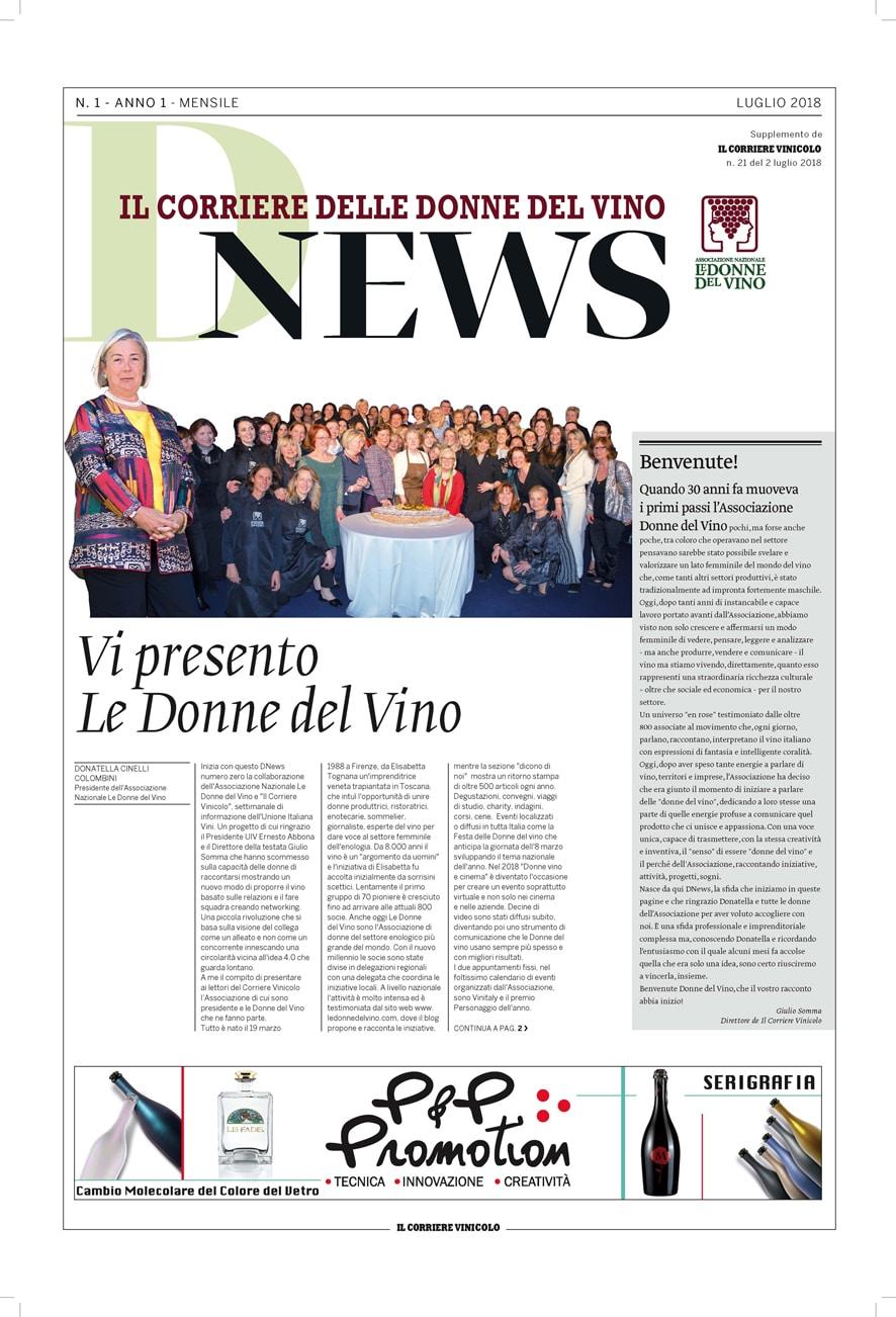 DNEWS, nasce il Corriere delle Donne del Vino