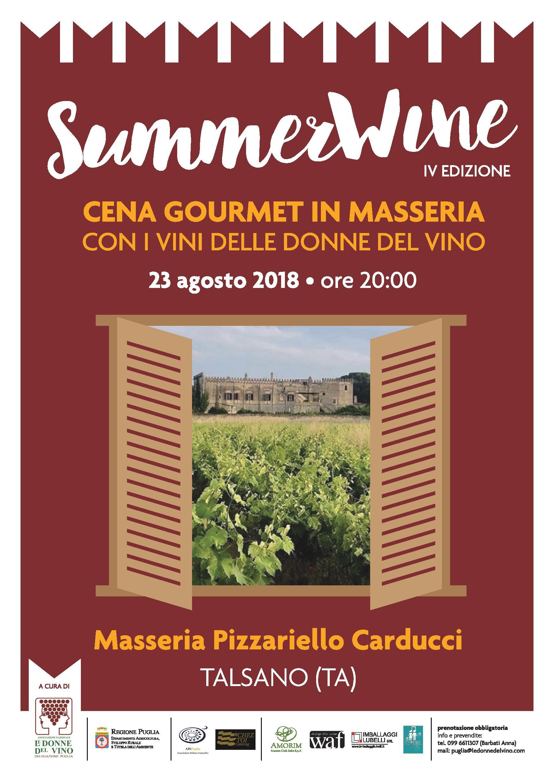 SummerWine 2018: cena gourmet in masseria in Puglia