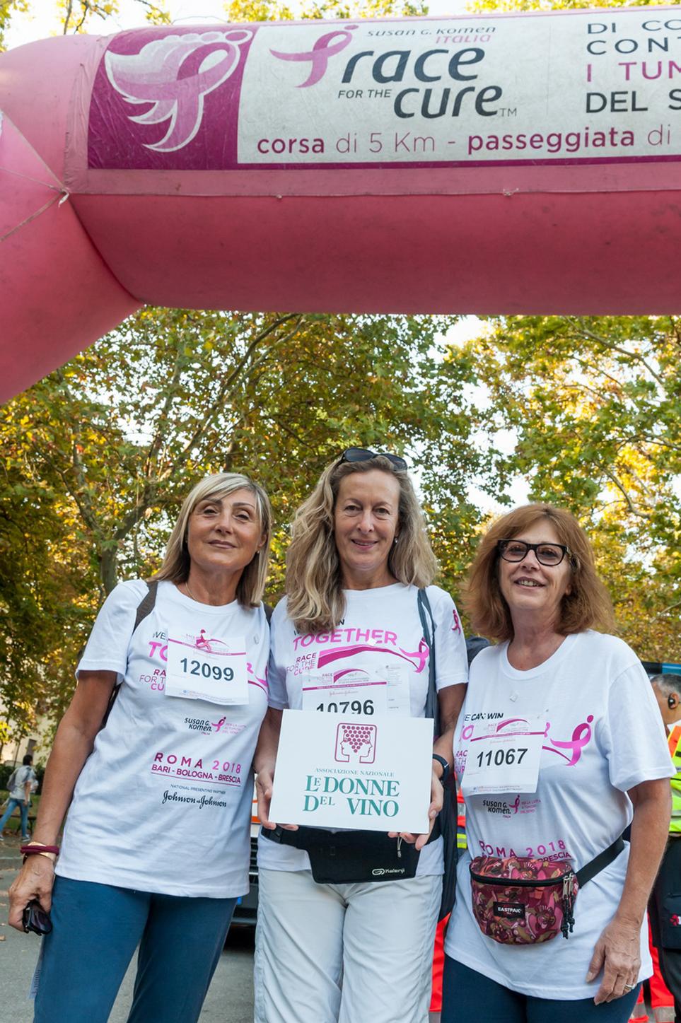 RACE FOR THE CURE  Le Donne dell'Emilia Romagna in corsa per la lotta contro i tumori. 23 settembre 2018